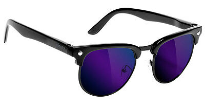 GLASSY Sunhaters Morrison Sunglasses - Black w Blue Mirror Polarized + Sleeve