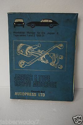 Jaguar E Type Series 1 and 2 Workshop Manual Autobook 1961-1970 Kenneth Ball