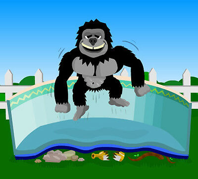 12'x24' Oval Gorilla Floor Pad For Above Ground Swimming Pools