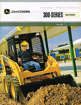 2007 John DEERE 313 / 315 SKID STEER Brochure / Catalog with Specifications