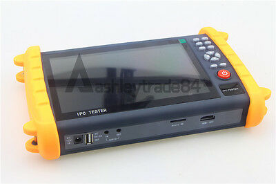 "IPC9600 7"" Capacitive Touch Screen POE ONVIF IP&Analogy camera test CCTV Tester"