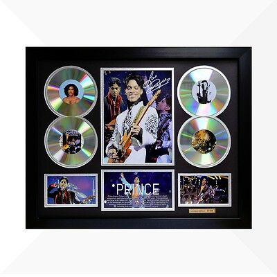 Prince Nelson Signed & Framed Memorabilia - 4CD - Black/Silver Limited Edition