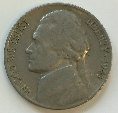 1941 Jefferson Nickel 5 Cents coin