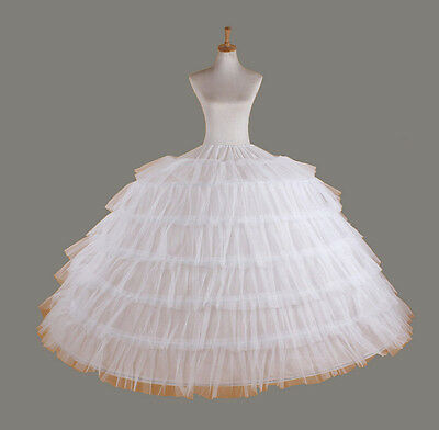 Petticoat crinoline underskirt prom Wedding petticoat bridal dress 6 hoop skirt