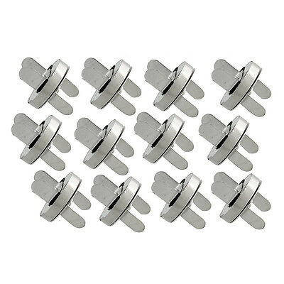 18mm Metal Magnetic Snaps Bag Clasp Fastener Sewing Button 12 Set Clothes