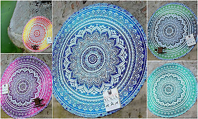 10 pcs WHOLESALE LOT Roundie Hippie Beach Throw Round Yoga Mat Indian Tapestry