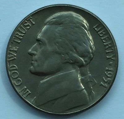1951 U.S.A Jefferson Nickel 5 Cents coin - Free Postage