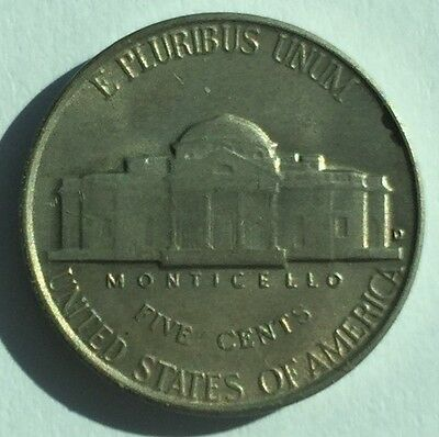 1949-D U.S.A Jefferson Nickel 5 Cents coin - Free Postage