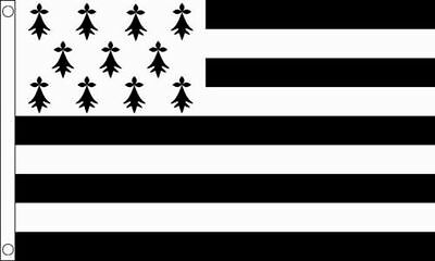 Brittany 5'x3' Flag France French Provinces Regions