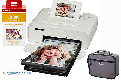 Canon Selphy CP1200 weiss+ KP-108 + DCC-CP2 Tasche CP 1200 Neuware RP-108IN