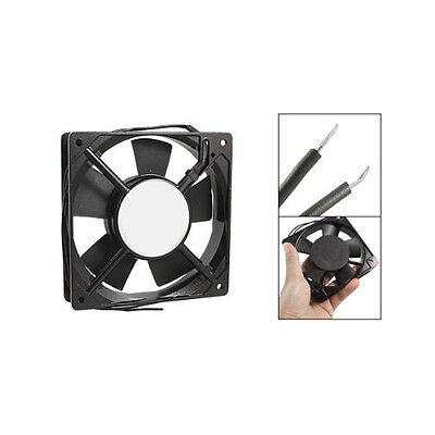 New 278g Black Metal Industrial 120 x 120 x 25mm 0.1A AC 220-240V Cooling Fan WD