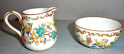 """Staffordshire Crown Creamer England Flowers Around 3"""" Tall 2.25"""" Opening Vintage"""