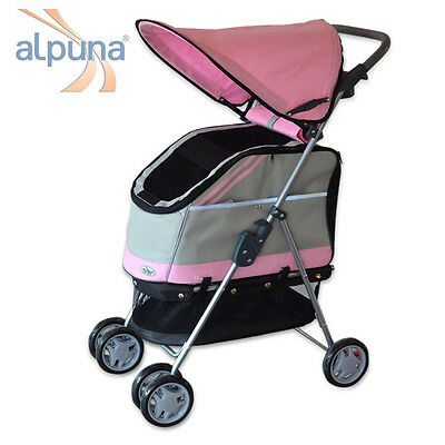 Dog + Cats Buggy PACCO in the color Pink with removable Bag