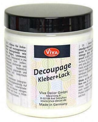 DECOUPAGE Kleber + Lack 250 ml VIVA DECOR Serviettenkleber Decopatch 3050