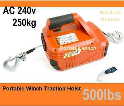 250kg 500lbsTraction Block Portable Winch Traction Hoist with Remote Control