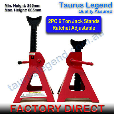1 Pair 6 Ton Heavy Duty Jack Stand Ratchet Adjustable Height for Car Vehicles