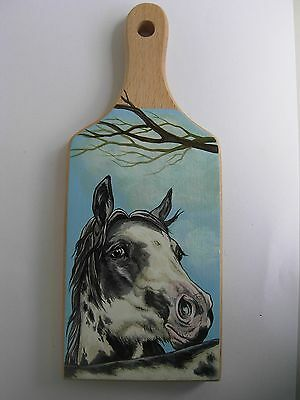 Pinto   Horse  Handpainted Wooden Cutting Board
