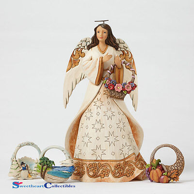 Jim Shore Seasonal Angel With 4 Baskets 4051419 New
