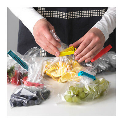 30x IKEA Bevara Plastic Food Storage Bag Sealing Clips Locks Assorted Sizes