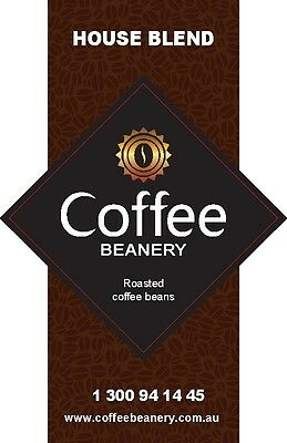 Coffee Beanery House Blend Roasted Coffee Beans. 1 Kilo