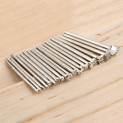 20pcs/Set Leather Working Saddle Making Tools Carving Leather Craft Stamps np