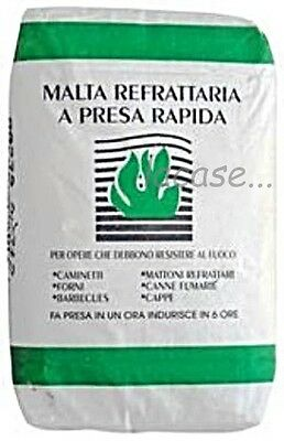 Mortar Refractory Furnaces, Fireplaces, Barbecue Bag 5 Kg New