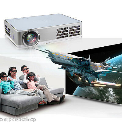Full HD 1080P DLP Mini Projector Multimedia Home Theater 3D Android 4.4 HDMI AUS