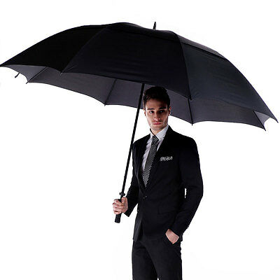 Men Business Umbrella Double Strong Windproof Large Diameter Outdoor Long Handle