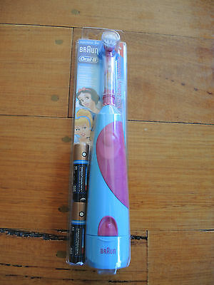 Braun Oral B Disney Princess battery operated toothbrush BRAND NEW Free Postage