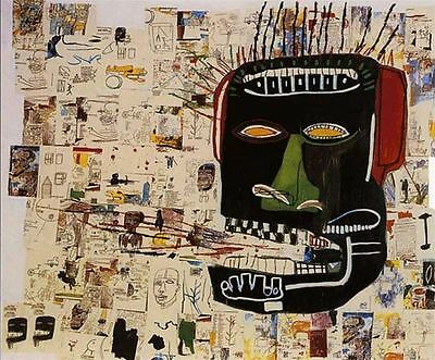 Jean-Michel Basquiat oil painting on canvas Abstract home decor Glenn 20x24""