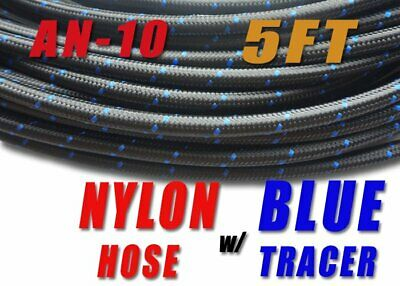 """-10 AN AN10 5/8"""" Nylon Braided Stainless Steel Fuel Line Hose 5FT E85 friendly"""