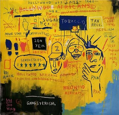Jean Michel Basquiat Hollywood African Wall Decor Oil Painting on Canvas 24x24""