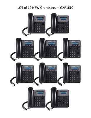 LOT of  10 New Grandstream GXP1610 2-Line HD - SIP IP Phone - FREE SHIPPING