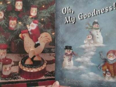Oh My Goodness Painting Book-Thompson-Snowmen/Santas/Angels/Gingerbread Kids
