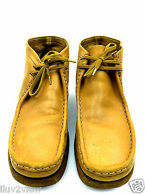 Clarks Originals Vintage Leather Men's Wallabee Boot Tan Brown  Size 10 USA