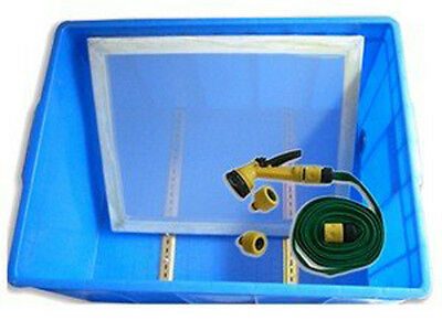 Screen Printing Frame Wasing out Tank with Water Gun Screen Clean