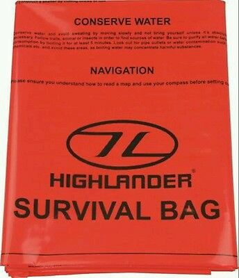 Highlander emergency survival bag (90×180cm) Orange