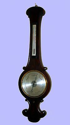 Casella English Rosewood Wheel Barometer Thermometer ~ No Shipping, Pickup Only