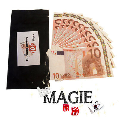 Papier Flash - 10 Billets flash de 10€ - Magie du feu