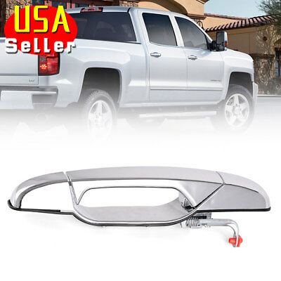 Chrome Exterior Door Handle for 07-13 Chevrolet GMC Front Right Passenger Side