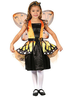 Kids Butterfly Fairy Princess Girls New Fancy Dress Costume Party Outfit Monarch