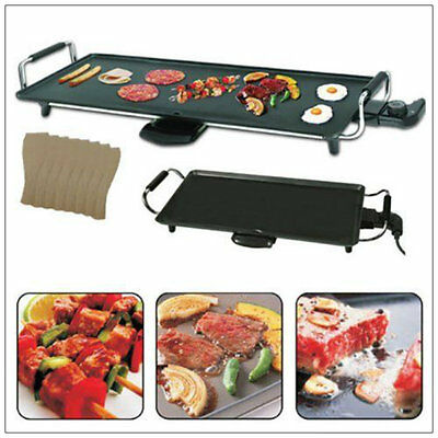 Large 2kw Electric Teppanyaki Table Top Grill Griddle BBQ Barbecue Steak Stone