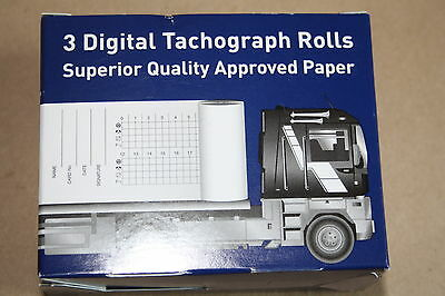6 Rolls Digital Tachograph Rolls Superior Quality Apprved Paper( 2 boxes of 3)