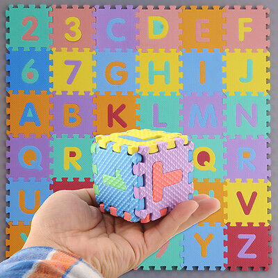 Interlocking EVA Foam Alphabet Letters Numbers Soft Play Mat Educational Puzzle