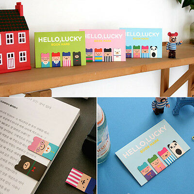 Creative 4Pcs(1Set) Korean Magnetic Metal Bookmark Book Clip School Gift New