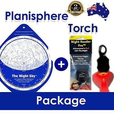 The Night Sky Planisphere & Red Light Torch PACKAGE - Southern Hemisphere