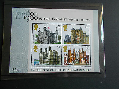 GB QEII 1978-80 1st 3 Commemorative Miniature Sheets With Original Packaging MNH