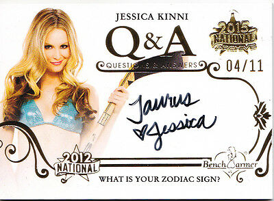2015 Benchwarmer National Archive JESSICA KINNI QUESTIONS & ANSWERS AUTO /11