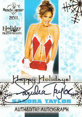Benchwarmer Holiday Past & Presents SANDRA TAYLOR HAPPY HOLIDAYS AUTOGRAPH
