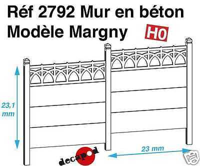 Decor Ho 1/87 Decapod 2792 - Mur Beton Modele Margny